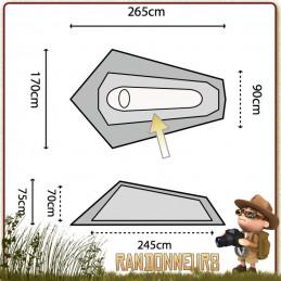 Tente Blackthorn 1 Highlander, une 1 place 3 trois saisons profilée pour tenue au vent, robuste compacte et légère