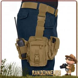 Drop Leg Pochettes Utilitaires Tactiques Coyote Rothco système de poche militaire à porter sur la cuisse