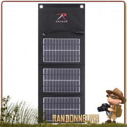 Panneau Solaire Pliable Tactique MOLLE 7W Rothco Système d'attache MOLLE pour votre sac tactique militaire