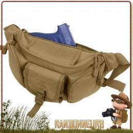 Ceinture Banane Tactique Coyote Rothco - La pochette Rothco est une pochette ceinture banane robuste idéale pour un kit EDC