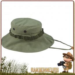 Chapeau militaire BOONIE Rothco, coton ripstop, Vert Olive, léger avec sangle tour de cou ajustable et œillets de ventilation