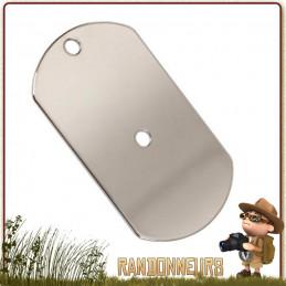 Miroir de signalisation en forme de Dog Tag en acier inoxydable rothco france pour la randonnée et kit de survie