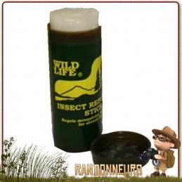 Stick de crème répulsive anti-moustiques et anti-insectes à base de DEET 40%. En tube de petite taille de 25 g bcb international
