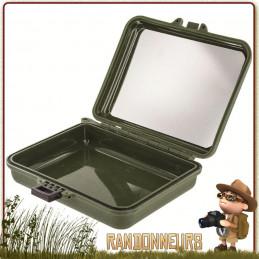 Boite étanche Plastique Highlander pour le rangement étanche de son petit matériel, et kit de survie trousse de toilette