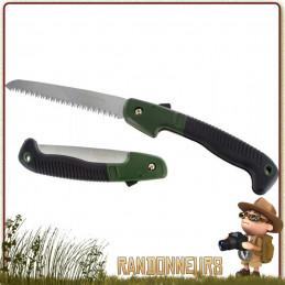 Scie à main pliante Wolverine de Highlander, lame en acier inoxydable de 18 cm et d'un manche plastique ABS