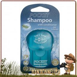 Shampoing de poche en feuilles Sea to Summit est un savon bio en feuilles très pratique pour la randonnée légère