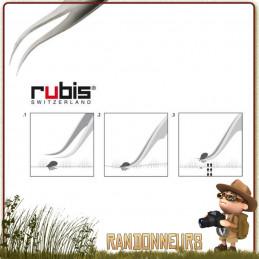 Pince à tique en acier Inox de qualité chirurgicale RUBIS de qualité suisse, propose des pointes courbes et très fines