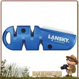 Affuteur QuadSharp sharpener Lansky. Affuteur de poche pour couteaux avec différents types angles d'affutage