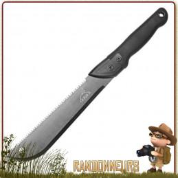 Machette Gerber GATOR Junior, machette bushcraft légère, robuste, lame 43 cm acier inox affutée avec scie