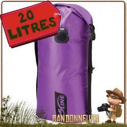 Sac Bulkhead Seal Line Compressible Etanche 20 Litres pour le transport protégé de votre équipement trekking