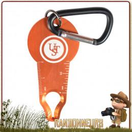Pince à tique Tick Wrangler UST levier pour enlever les petites et les grosses tiques sur homme et animal