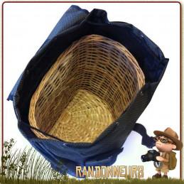 Sac à Dos Panier Champignons Maserin 35 Litres Maserin contenant 6 poches extérieures et un panier en osier intérieur