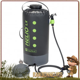 Douche Portable HELIO LX Nemo volume 22 Litres à pression pour la toilette au camping, à la plage et en randonnée