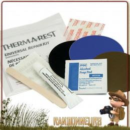 kit de réparation permanent matelas Thermarest, réparez votre matelas de randonnée légère directement sur place