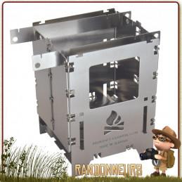Réchaud randonnée à bois Bushbox LF Bushcraft Essentials multi combustibles (470 g) ultra compact et léger
