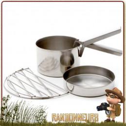 Set Cuisson SMALL Kelly Kettle acier inox pour bouilloire réchaud bois trekker Kelly Kettle, pot, poêle, grill