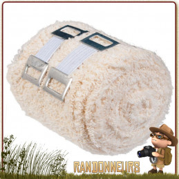 Bandage de crêpe élastique Europlast réutilisable. Bandage 7.5 cm x 4 m pour le maintien et le soutien des membres blessés