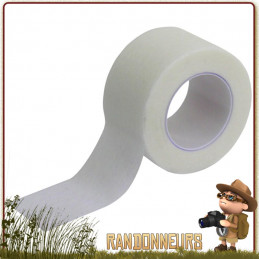 Sparadrap Microporeux de taille 2.5 cm x 5 m à usage unique. Tissu sécable à la main et résistant microporeux, pour pansements.