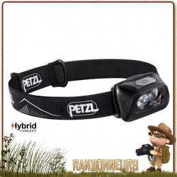 Lampe Frontale rechargeable PETZL Actik Core Noire avec batterie core