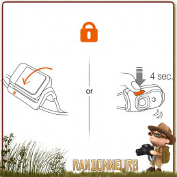 Lampe Frontale légère et puissante PETZL Bindi Orange rechargeable
