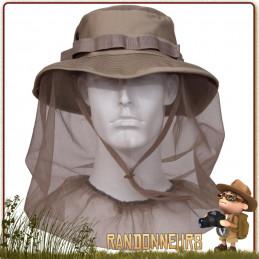 Chapeau avec Moustiquaire Khaki Rothco de randonnée dans la jungle contre moustiques et midges