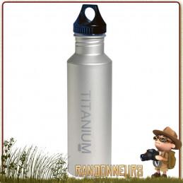 Bouteille Titanium 650 ml VARGO ultra légère pour randonnée minimaliste