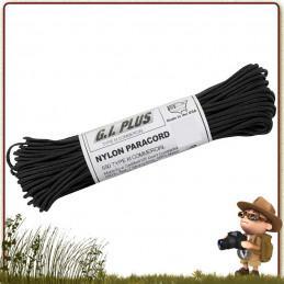 paracorde 550 survie usa noire rothco en bobine de 15 metres pour le tressage de bracelets