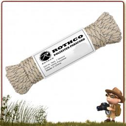 Paracorde us 550 de survie Polyester 15 m Rothco Desert Camo