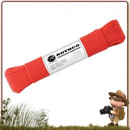 bobine paracorde survie us type 550 en polyester rouge
