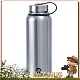Gourde Inox Isotherme 1L Origin Outdoors de qualité sans vernis double paroi pour boissons chaudes froide