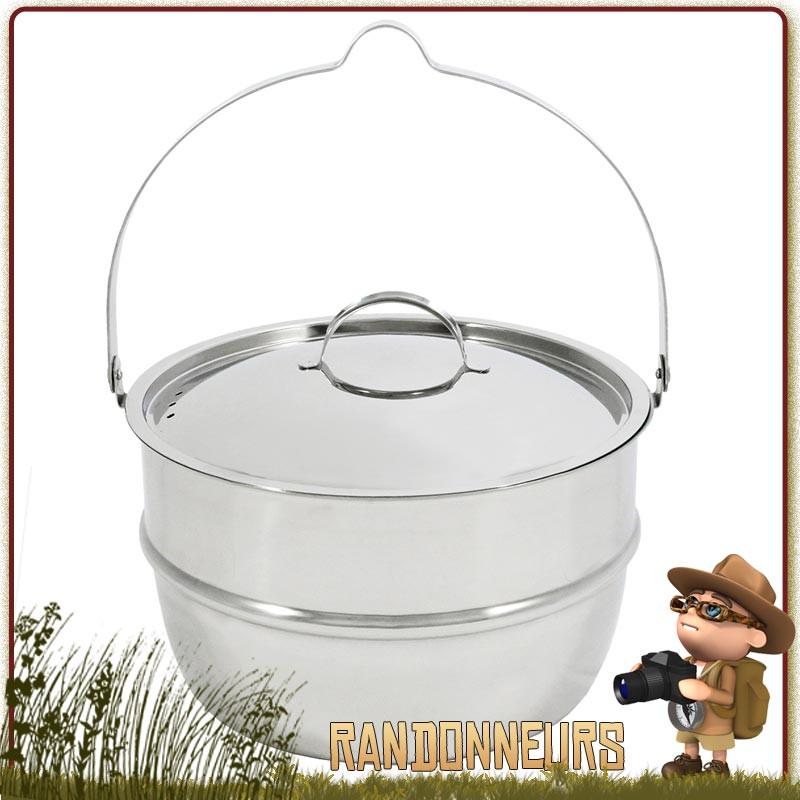 Marmite Inox Muurikka 4.6 litres familiale durable de camp bivouac bushcraft