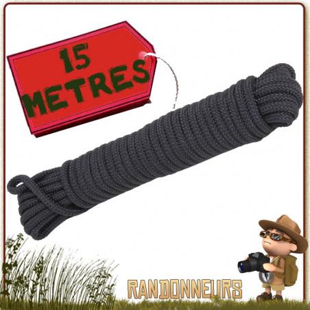 Corde Polypropylene 15 mètres NOIRE Rothco