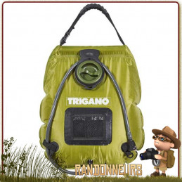 Douche Solaire Luxe Trigano portable de camping, ultra résistante Indicateur de température