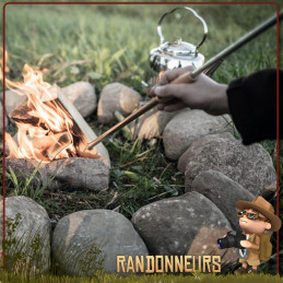 Bouffadou inox Firepipe Petromax allumer un feu de camp, ou raviver la flamme d'un réchaud bois bushcraft