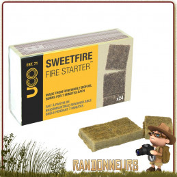 Tablettes Amadou Sweetfire UCO allume feu naturel et efficace de bivouac bushcraft survie