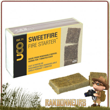Tablettes Amadou Sweetfire UCO