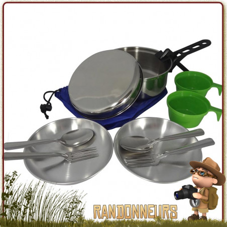 Popote Scout Inox 2 Personnes CAO