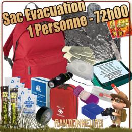 kit d'evacuation de survie catastrophe pour les urgences catastrophe naturelle, guerre civile
