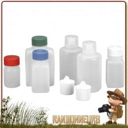 Kit de flacons de voyage Nalgene composé de différents récipients et bouteilles pour transport aerien