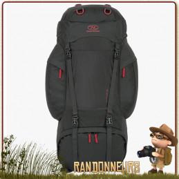 sac à dos 88 litres Rambler Highlander de grande randonnée, gros volume de charge et confortable de portage