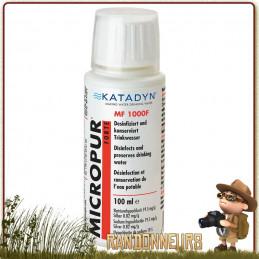 Micropur Forte Liquide MF 1000 F Katadyn pour la désinfection de l'eau potable avec le chlore et conservation ions argent
