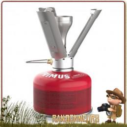 Réchaud Primus Fire Stick titane puissant 2500 w au gaz ultra léger conception titanium pour randonnee minimaliste
