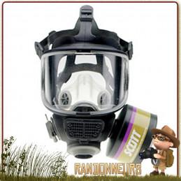 Masque Respiratoire NRBC M98 Scott Safety de protection contre virus, risques chimiques et radioactifs