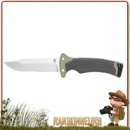 Poignard New Ultimate Gerber, meilleur couteau bushcraft survie plate semelle avec kit survie intégré