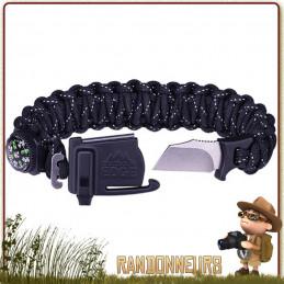 Bracelet Paracorde de Survie ParaSpark Outdoor Edge, kit de survie complet pour randonneur