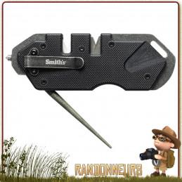 Affuteur de poche PP1 Tactique SMITHs avec brise vitre pour couteau tactique et survie bushcraft