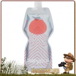 Gourde pliante légère Soft Bottle Souple Platypus 1 Litre APEX pour randonner