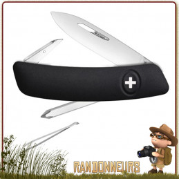 Couteau Swiza D02 6 fonctions Noir, le couteau suisse du randonneur