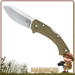 meilleur couteau pliant fox knive Zero manche nylon fibre de verre randonnee bushcraft
