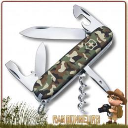 Couteau Victorinox SPARTAN Camo multifonctions pour la chasse et forces armées militaire